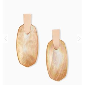 NWOT Kendra Scott Aragon Rose Gold drop earrings